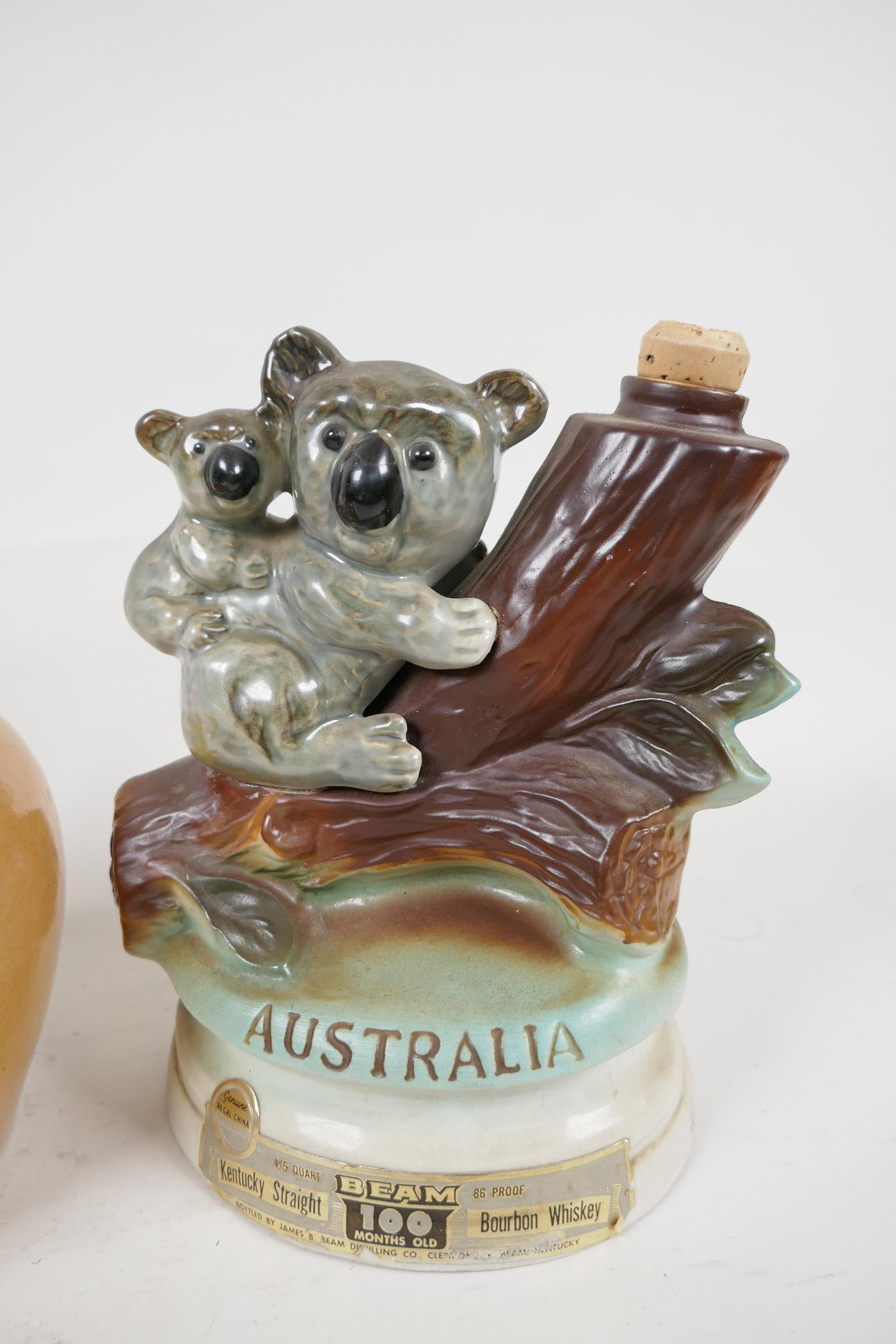 A Stoneware Highland Whisky flask, a Wedgwood 'Don' for Sandeman Sherry decanter and an Australian - Image 5 of 5