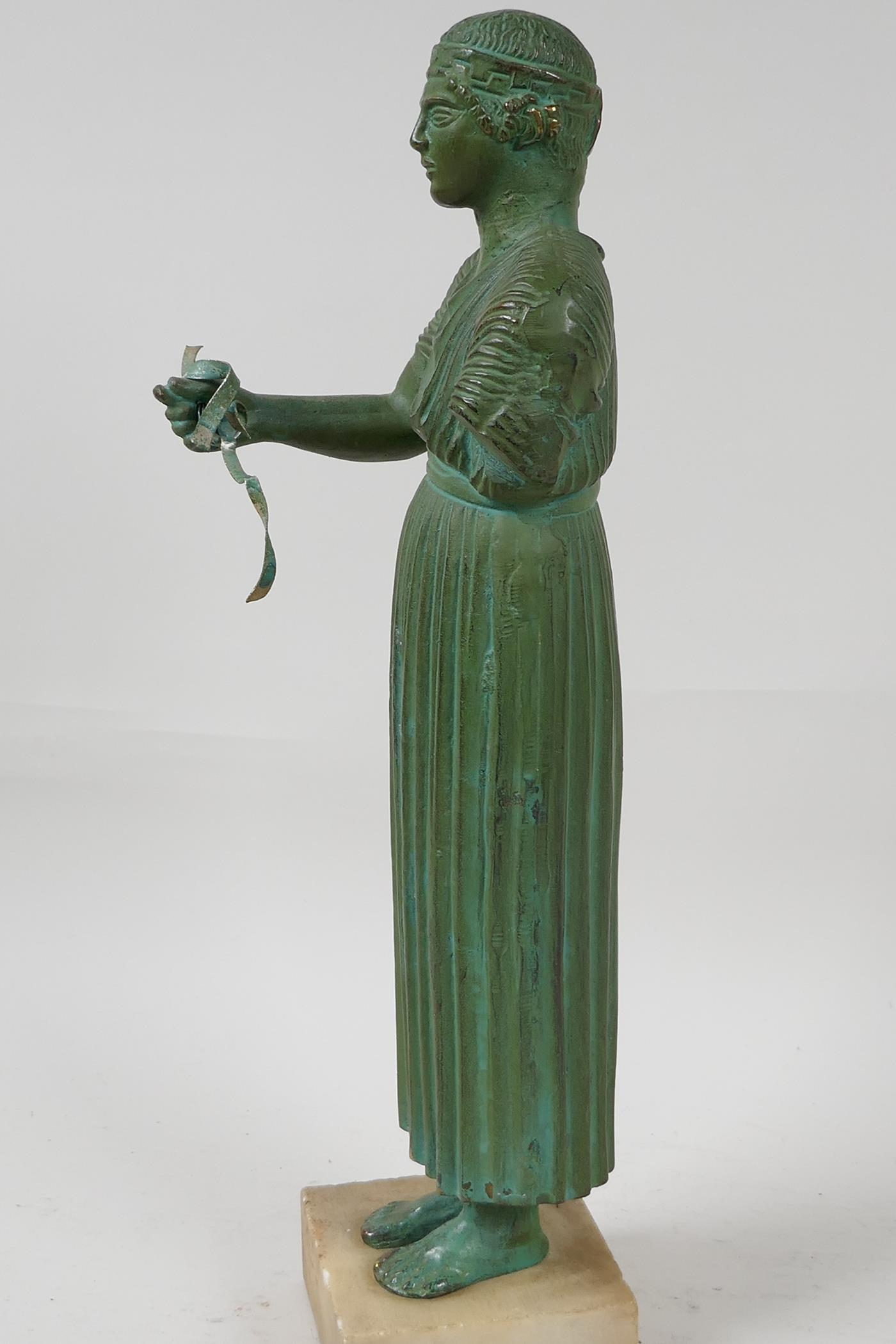 """A bronze figure of a Greek philospher, after the antique, 13½"""" high - Image 3 of 4"""