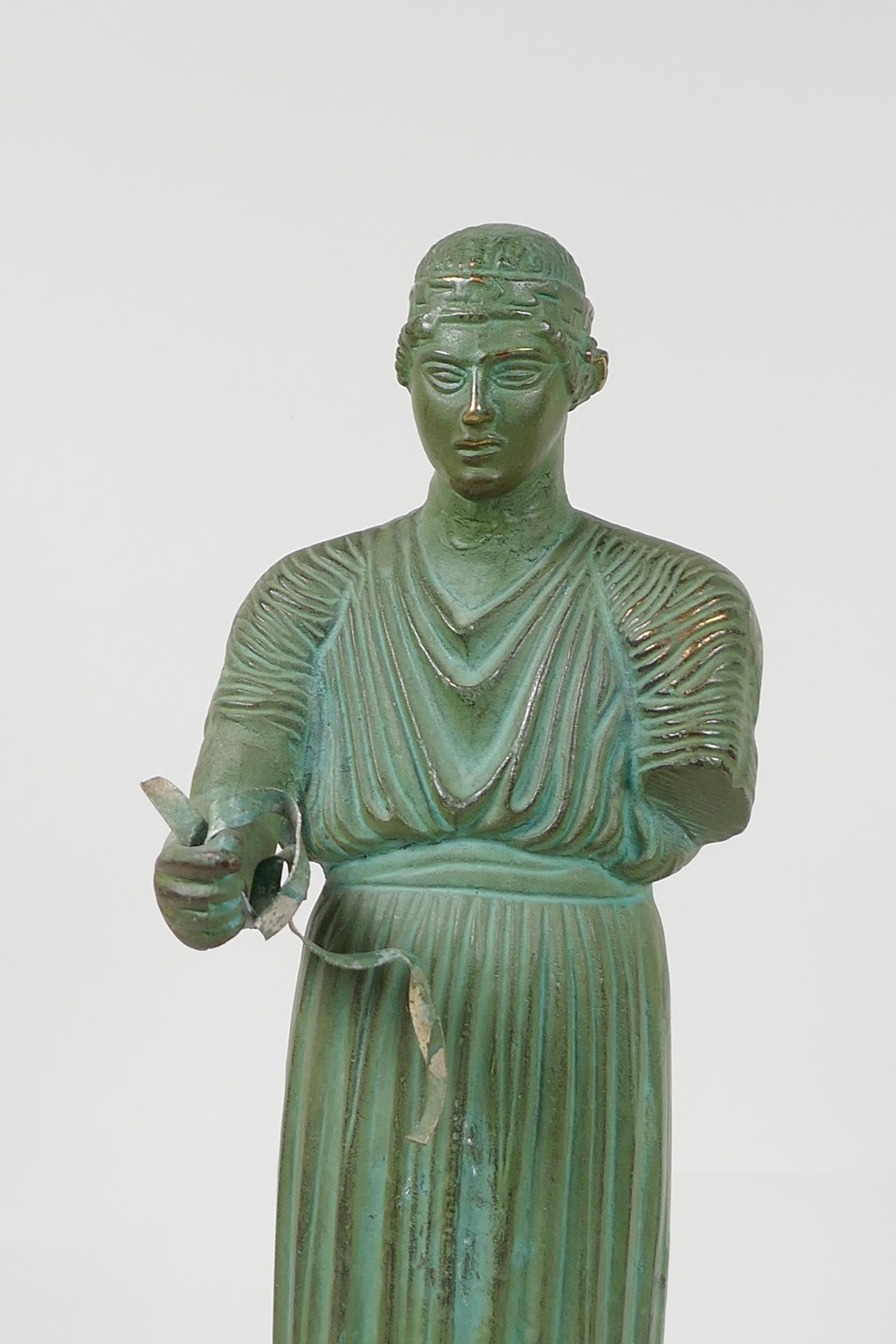 """A bronze figure of a Greek philospher, after the antique, 13½"""" high - Image 2 of 4"""