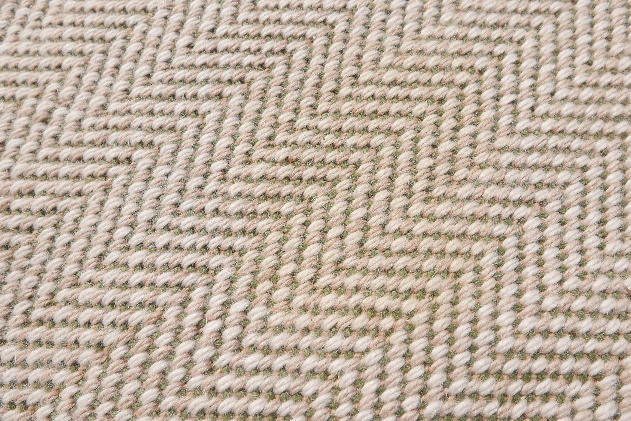 """A woven wool cream and green ground runner, 152"""" x 58"""" - Image 5 of 7"""