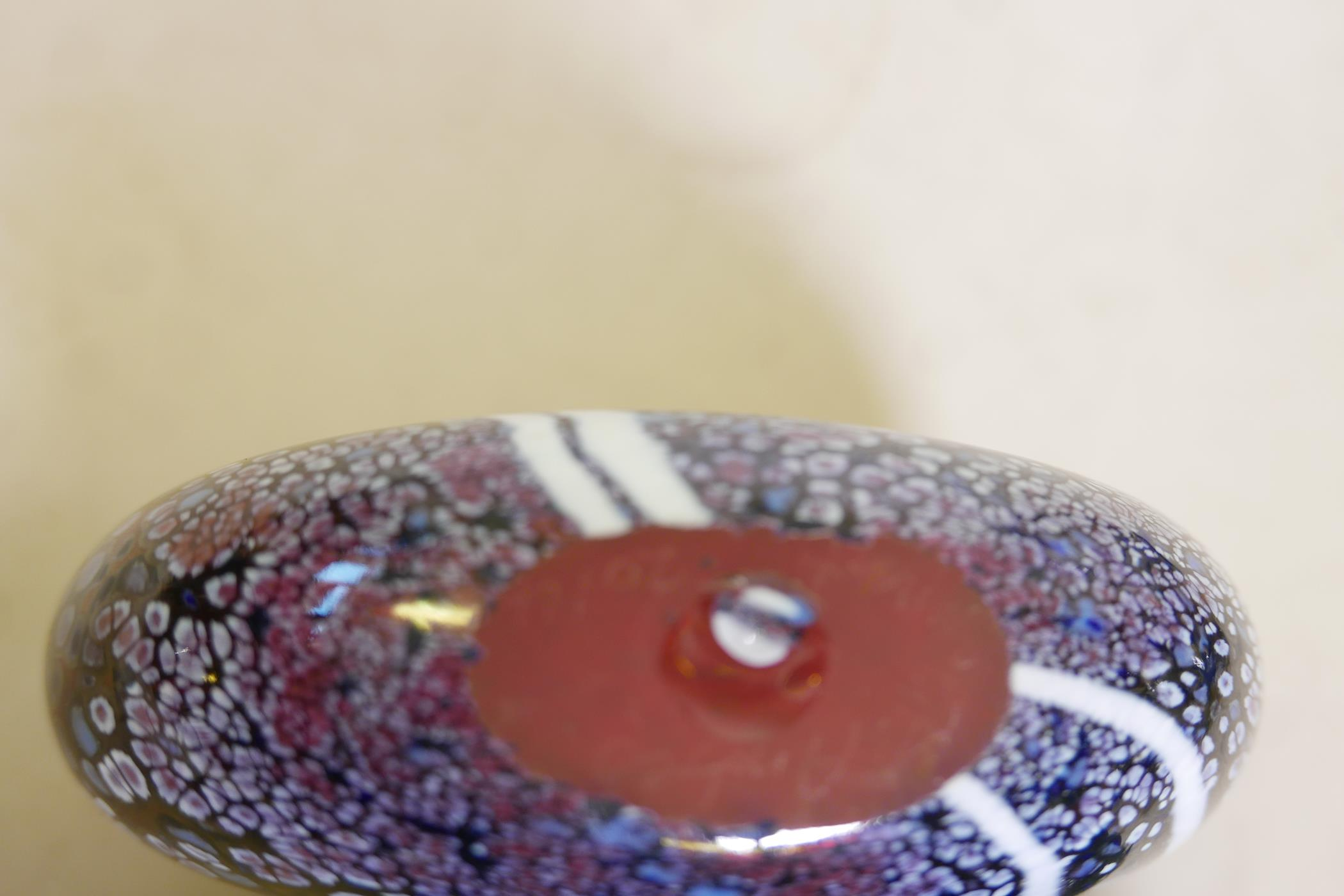 """A Martin Andrews 'Sunset' purse shaped glass vase, signed and dated 2014, 5"""" high - Image 4 of 4"""