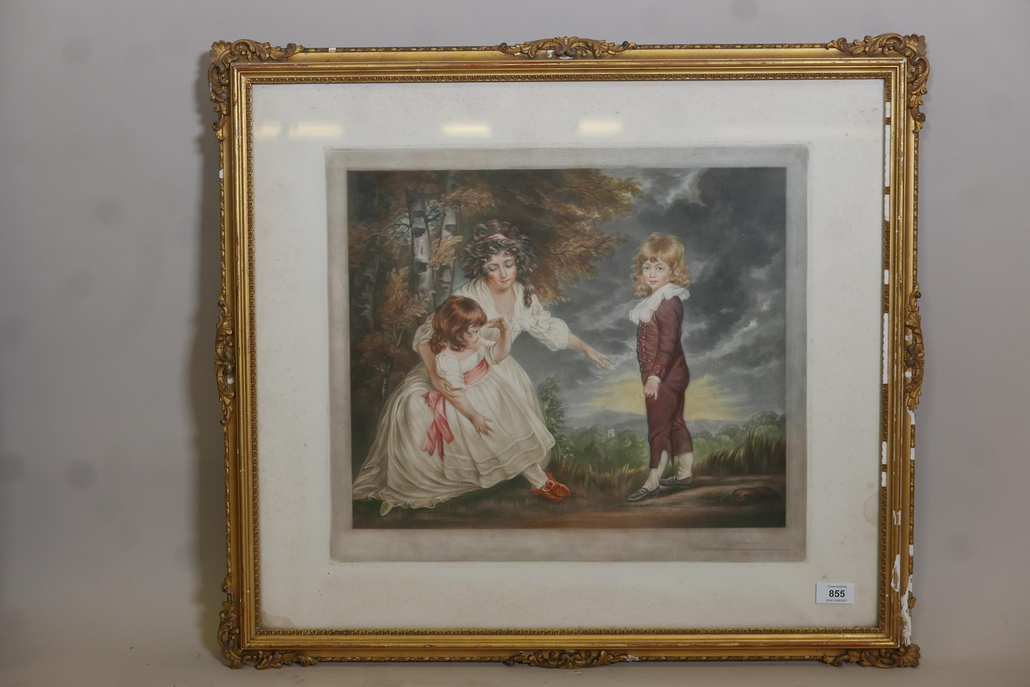 After George Romney, 'The Setting Sun' (Godard ? Children) mezzotint, published by Dowdeswell and - Image 2 of 6