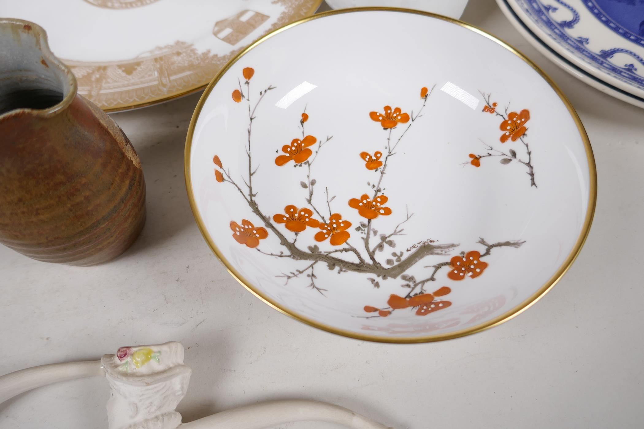 A quantity of decorative pottery and porcelain to include Royal Doulton, Wedgwood, Spode etc - Image 3 of 6
