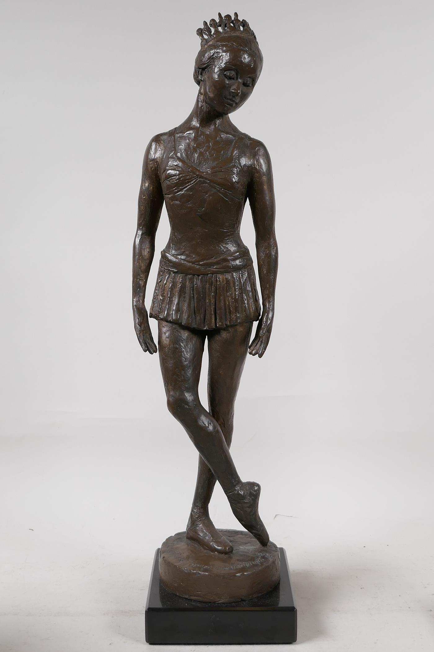 Nathan David, three limited edition bronzed composition figures of ballet dancers, Spirit of the - Image 7 of 9