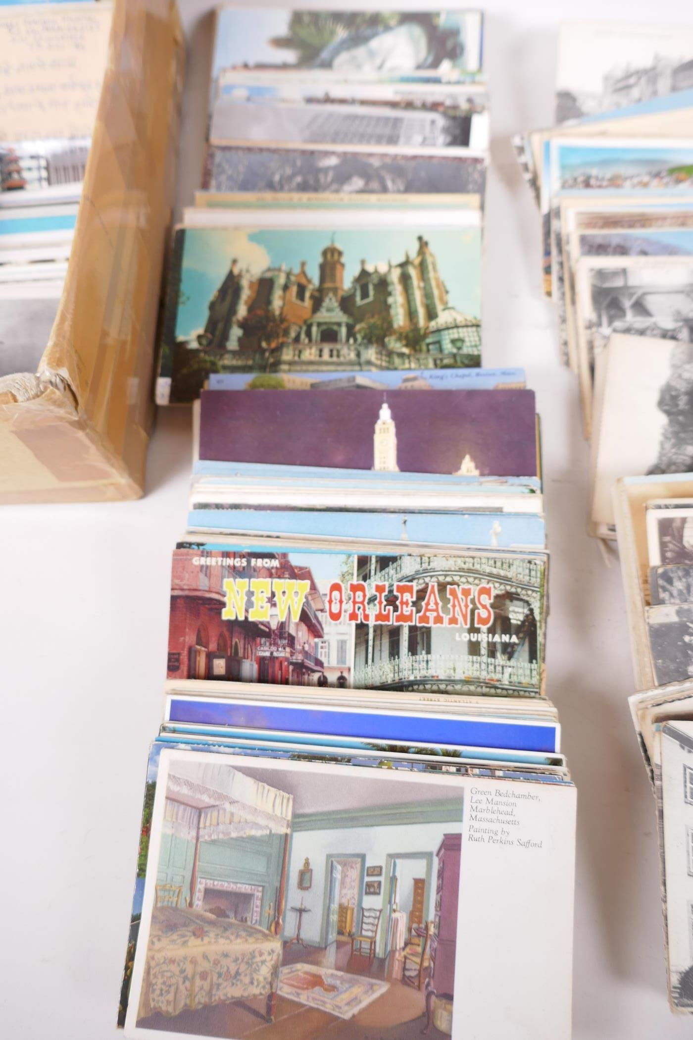 A collection of postcards, mainly topographical to include USA approx 800, and a collection of - Image 7 of 10