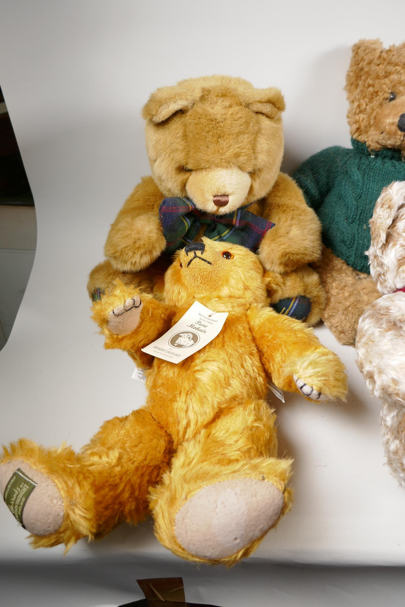 """A vintage 'House of Nisbet' teddy bear (patched) 22"""" long, four Harrods bears, 1994, 1998, 1999 - Image 2 of 4"""