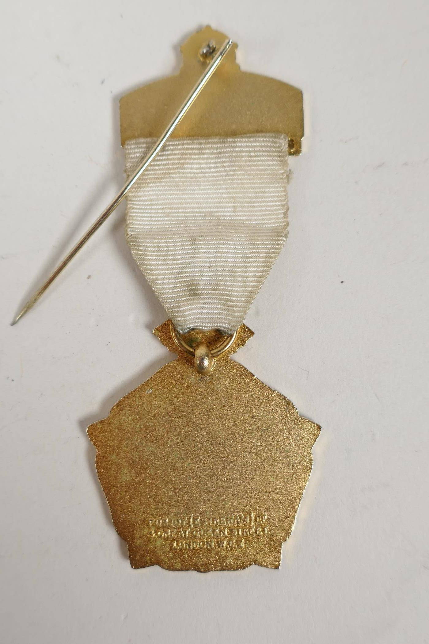 A bronze medallion commemorating Andreas Hofer together with masonic medals and an RAF cap badge, - Image 7 of 8