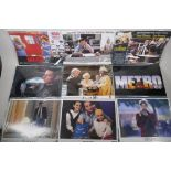 A collection of lobby cards for the films Basketball Minority Report, Presumed Innocent, All of