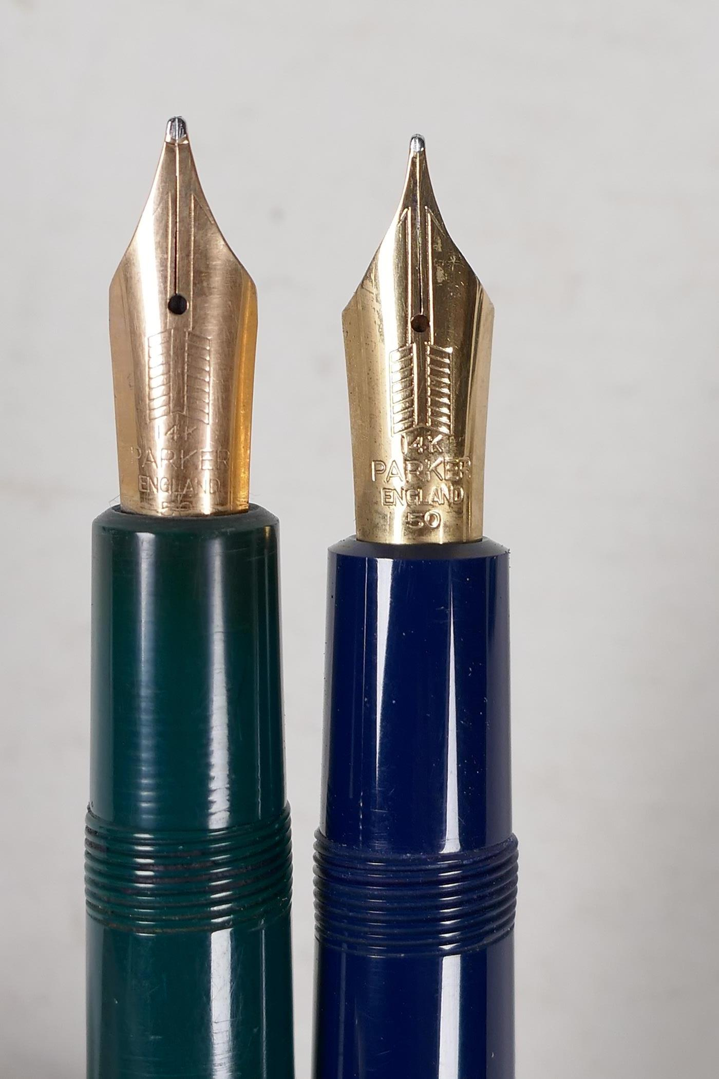 An assortment of Parker fountain pens, including two 'Maxima Duofold', three 'Duofold', two 'lady' - Image 3 of 9