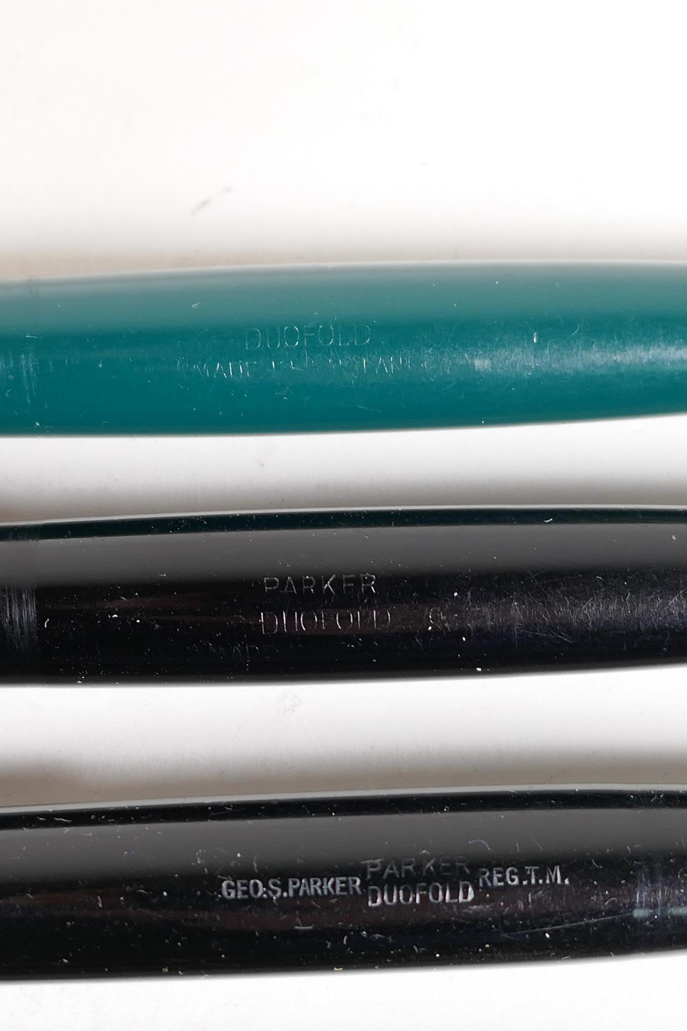 An assortment of Parker fountain pens, including two 'Maxima Duofold', three 'Duofold', two 'lady' - Image 4 of 9