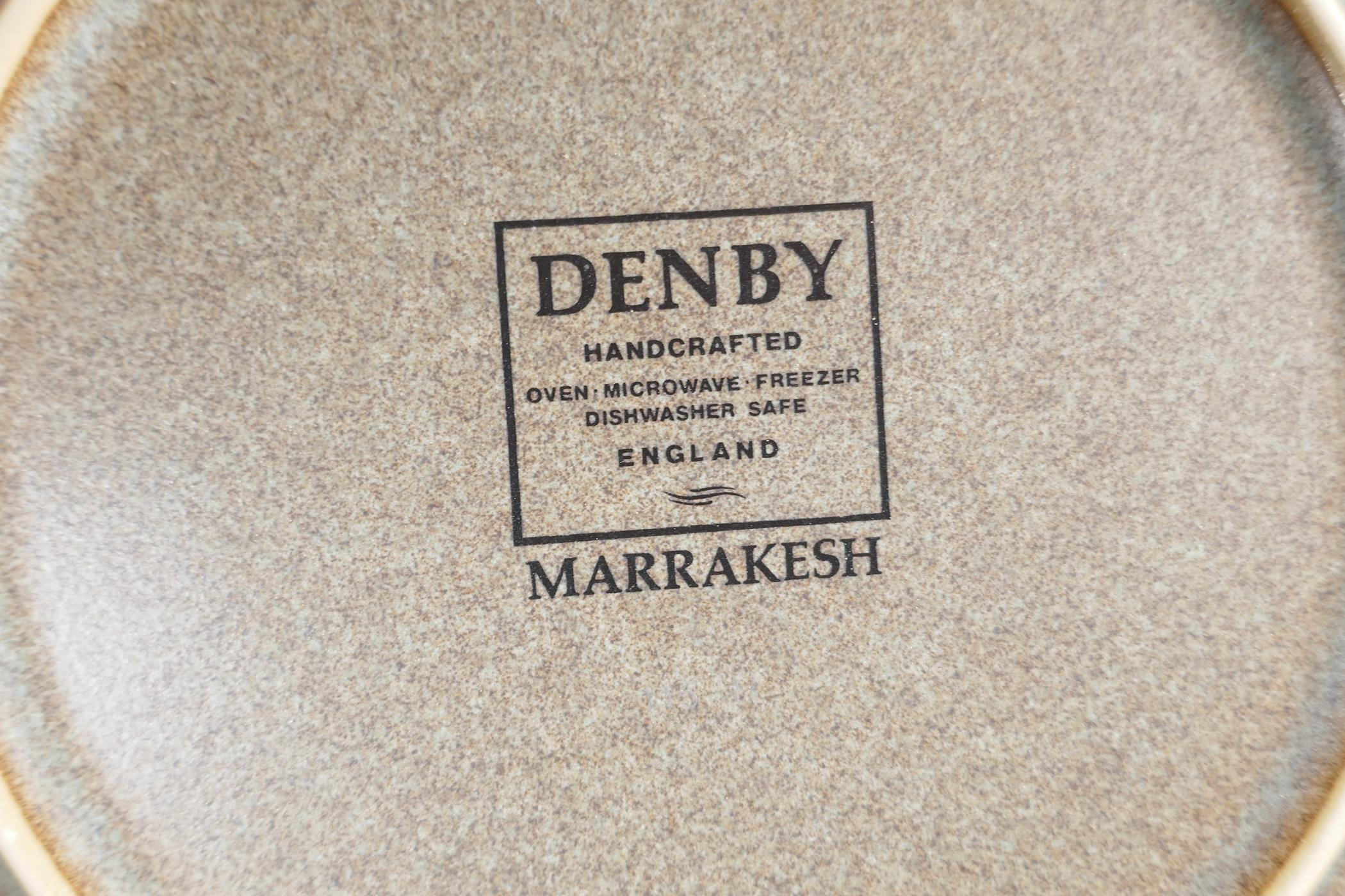 A Denby 'Marrakesh' six setting dinner service, with a pair of condiments, gravy jug, vegetable - Image 6 of 6