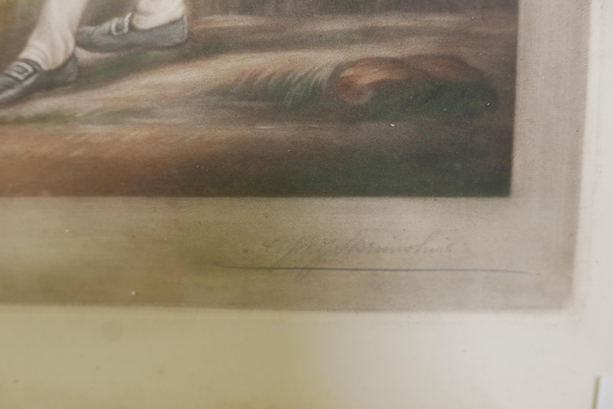 After George Romney, 'The Setting Sun' (Godard ? Children) mezzotint, published by Dowdeswell and - Image 3 of 6