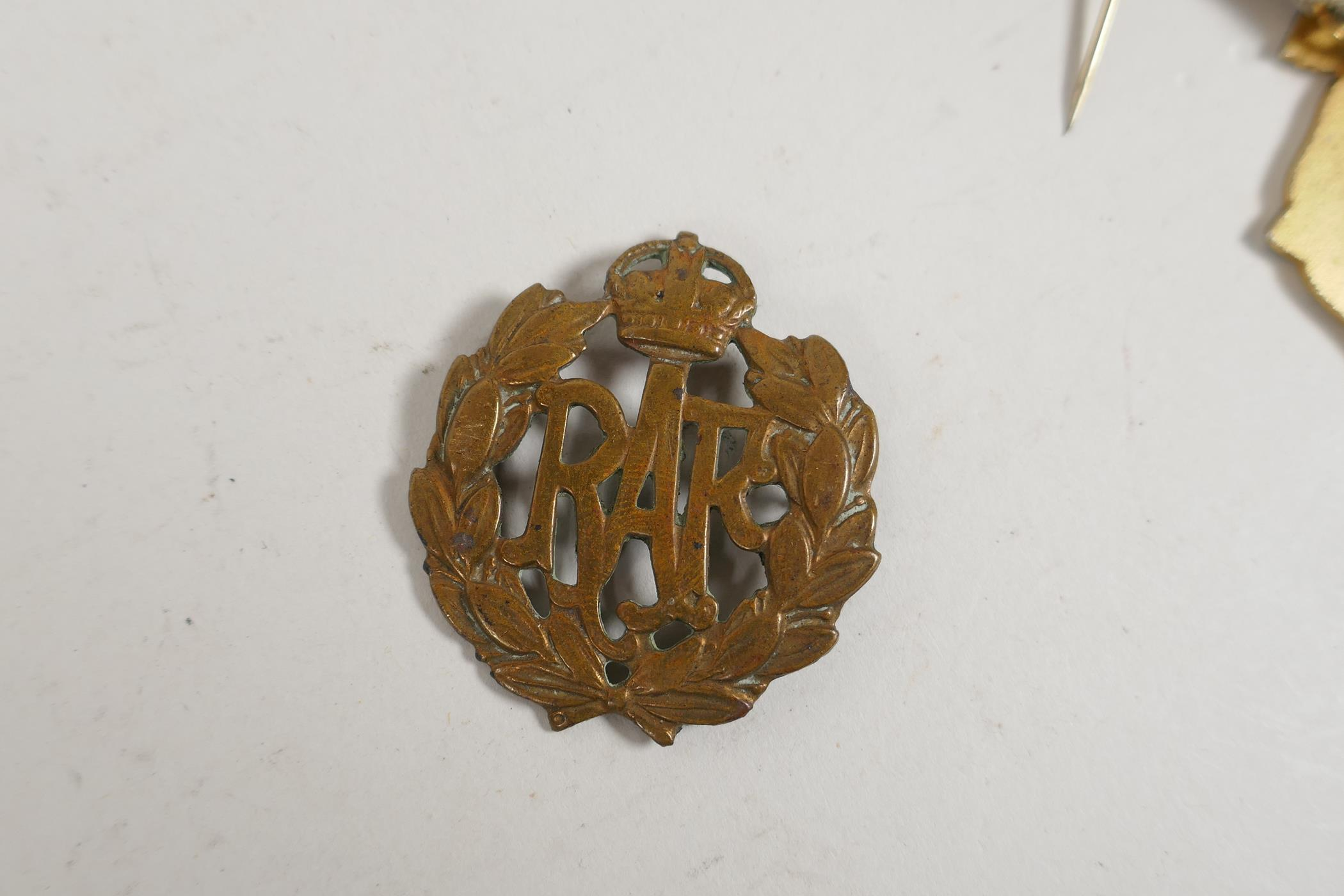 A bronze medallion commemorating Andreas Hofer together with masonic medals and an RAF cap badge, - Image 8 of 8