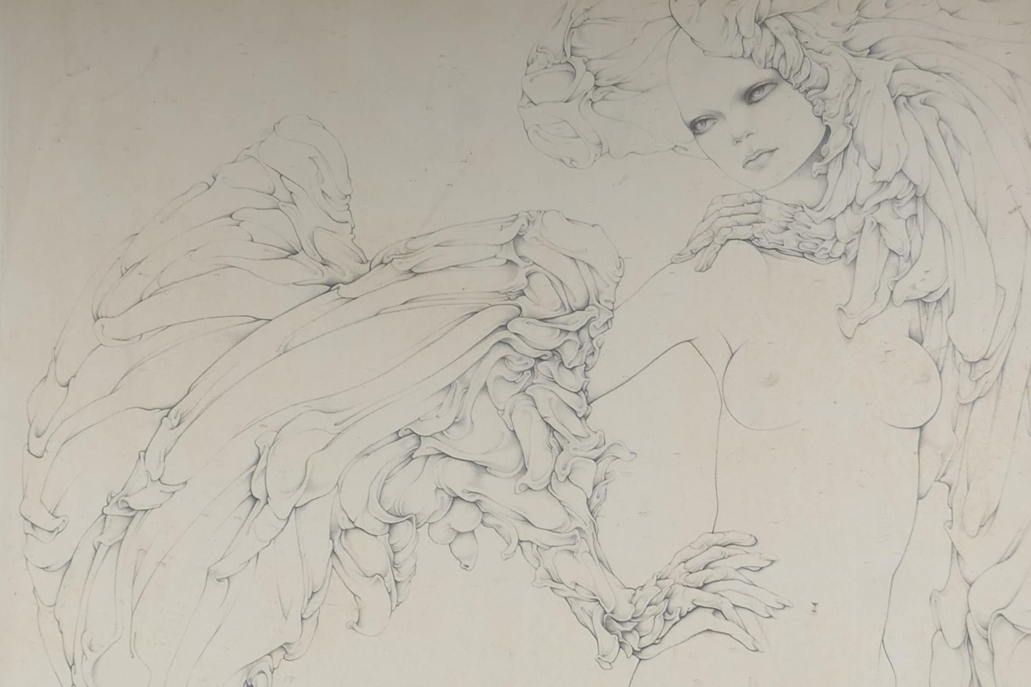 """After Gilles Rimbault, Studio 69, erotic surrealist art print, stamped, 23"""" x 23"""""""