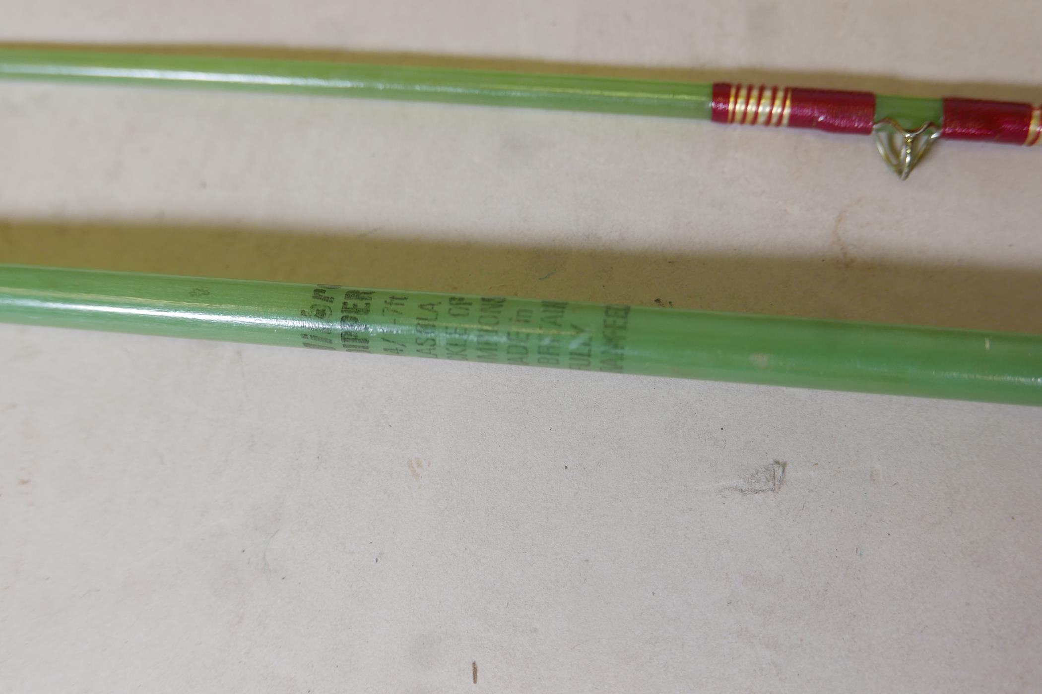 A vintage Army & Navy of Victoria three section fishing rod, 8½ft, another by Eggington & Son, - Image 2 of 5