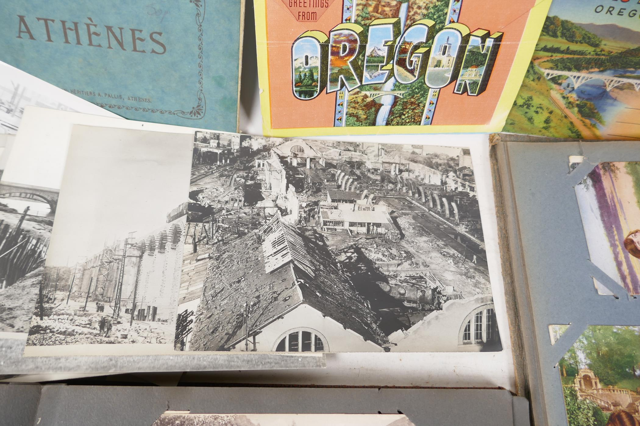 A quantity of C20th postcards, mostly WWI sweetheart cards, and French topographical, and a - Image 7 of 7