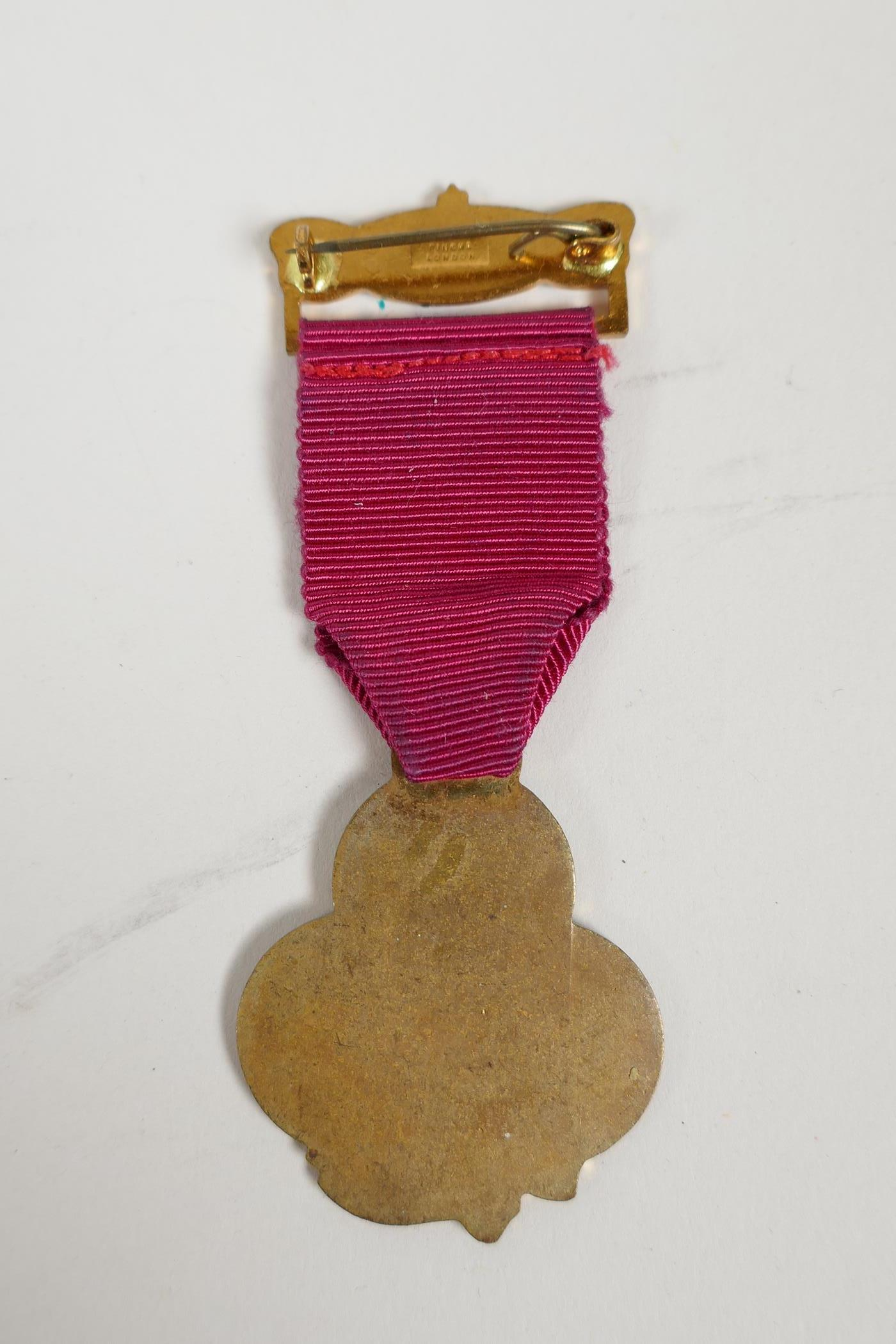 A bronze medallion commemorating Andreas Hofer together with masonic medals and an RAF cap badge, - Image 5 of 8
