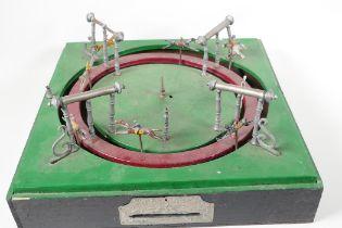 An antique mechancial horse racing game, Jeu de Course by M. J & Co, A/F