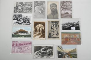 A collection of early to mid C20th African postcards, including portraits & landmarks