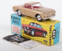 Corgi Toys 239 Volkswagen 1500 Karmann Ghia gold body