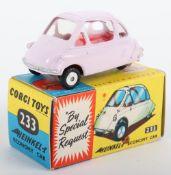 Corgi Toys 233 Heinkel Economy Car lilac body