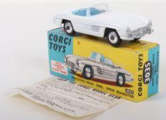 Scarce Corgi Toys 303S Mercedes-Benz 300SL Open Roadster