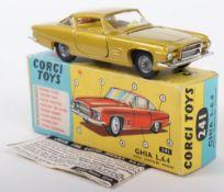 Corgi Toys 241 Chrysler Ghia L.6.4, Scarce metallic lime body