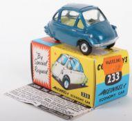 Corgi Toys 233 Heinkel Economy Car kingfisher metallic blue body