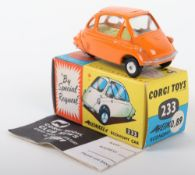 Corgi Toys 233 Heinkel Economy Car orange body