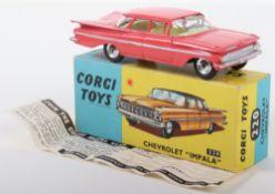 "Corgi Toys 220 Chevrolet ""Impala"" pink body"
