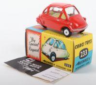 Corgi Toys 233 Heinkel Economy Car red body