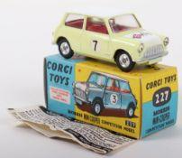 Corgi Toys 227 Morris Mini Cooper Competition Model