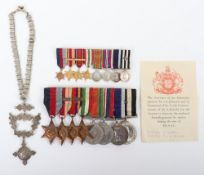 WW2 British Royal Navy and St Johns Ambulance Long Service Medal Group of Eight