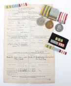 Royal Navy Korean War Medal Group of Three