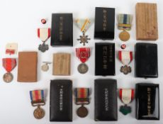 10x Japanese Meiji-Showa Period Medals