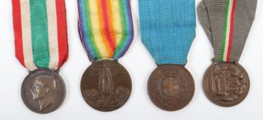 WW1 Italian Al Valore Casualty Medal Group