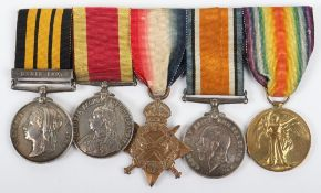 East West Africa, China 1900 and Great War Medal Group of Five Royal Navy