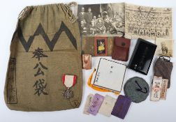 WW2 Japanese Order of the Rising Sun 8th Class Grouping