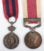 Victorian Indian General Service Medal & Abyssinia War Medal Pair Royal Navy