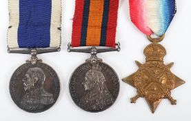 Royal Marines Light Infantry / Royal Marine Brigade Great War Casualty Medal Group of Three