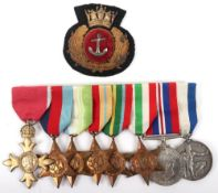 Rare WW2 Merchant Navy SS Dover Hill Arctic Convoys OBE and Lloyds War Medal for Bravery at Sea Meda
