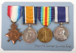 Royal Marine Artillery Naval Long Service Medal Group of Four