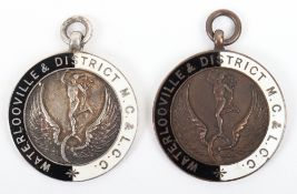 Pair of Pre War Enamelled Medals Awarded to Battle of Britain Aviator Sergeant E N L Guymer