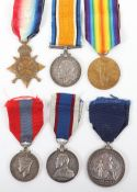 British Royal Navy WW1 Campaign and Royal Naval Fleet Reserve Long Service Medal Group of Six