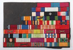 WW2 British Uniform Ribbon Bar with Foreign Awards