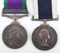 Scarce EIIR Royal Navy Fleet Air Arm Aircraft Handlers Medal Pair