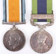 Great War and North West Frontier Medal Pair Queens Royal West Surrey Regiment