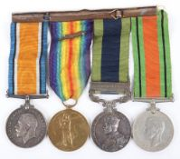 Great War and Waziristan Campaign Medal Group of Four Kings Liverpool Regiment and Cameron Highlande