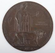 Great War Bronze Memorial Plaque