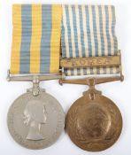 Royal Navy Korean War Medal Pair of Lieutenant Commander David Norman Dalton Royal Navy, Served on H